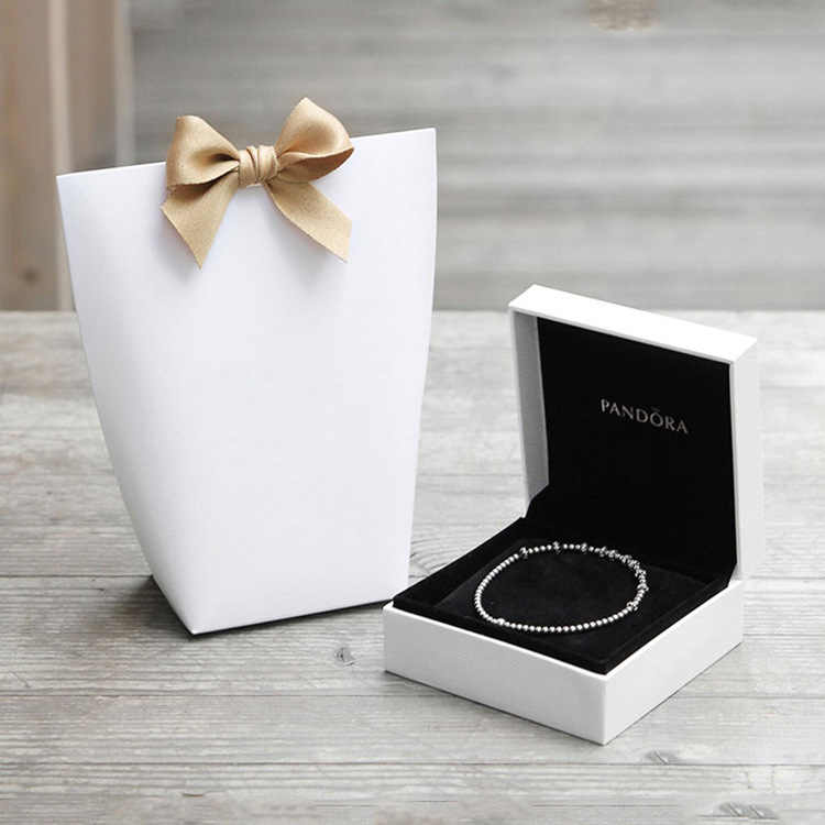 100 Pcs Small Gift Paper Bags For Jewelry Gift Box Ribbon Kraft Chocolates Candy Box Packaging Wedding Party Favors Packing