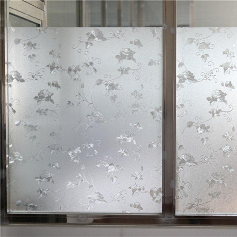 Thickening No Glue Window Film Glass Sticker Design Creative Home Decor For Bathroom Bedroom Glass Decoration 40 90cm 2m Decorative Glass Stickers Decorsticker Decor Aliexpress