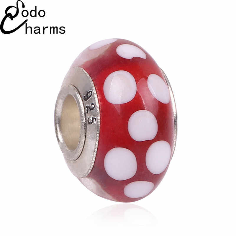 New Red White Mouse Head Boy Girl Charms Original European Fashion DIY Beads Silver Alloy Bead Fit Pandora Bracelets & Necklace