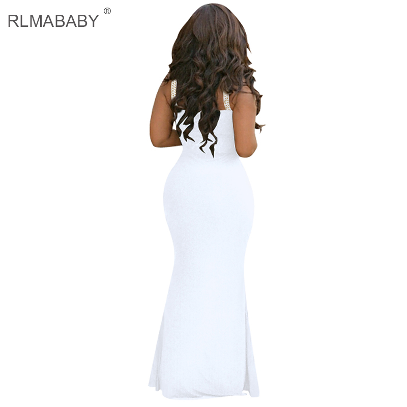 RLMABABY Sexy Diamond Summer Maxi Dress Slim Strap Sleeveless Backless  Black Bodycon Women Vestidos White Party Beach Long Dress-in Dresses from  Women s ... 9d6fc2dfb913