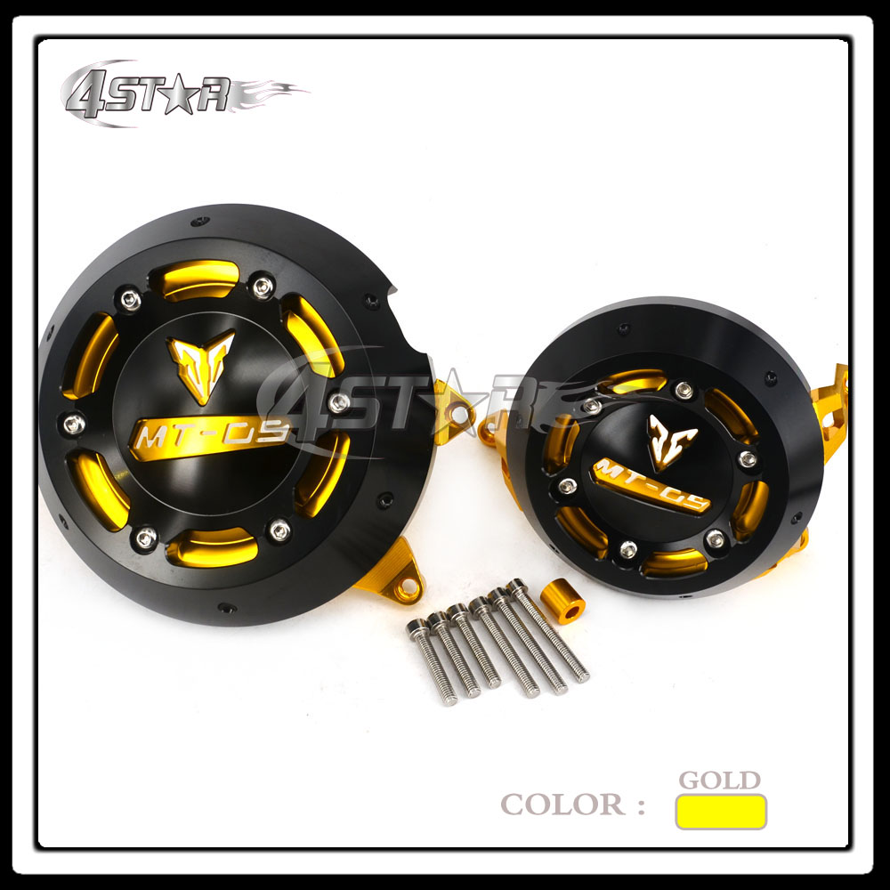 Aluminum Gold Engine Stator Case Cover Protective Side Protector For MT09 FZ09 MT-09 FZ-09 FZ MT 09 2014 2015 2016