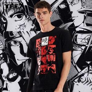 Image 2 - Tee7 men casual manga curta t camisas anime akatsuki de naruto algodão moda impresso t masculino o pescoço festa de fitness blusa