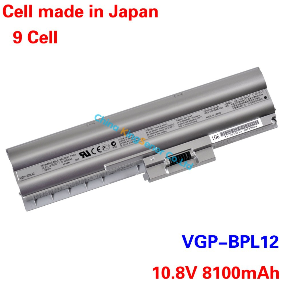 8100mAh Japanese Cell Original New Laptop Battery for SONY Vaio S VGN-Z15N VGN-Z17N VGN-Z25 VGN-Z37D VGP-BPL12 VGP-BPS12 9CELL