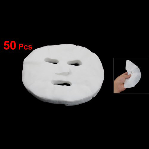 SODIAL(R) 50 Pcs White Cosmetic Enlarged Cotton Facial Mask Sheet For Ladies
