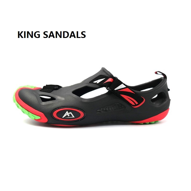 2018 New Hot Summer Beach Water Shoes Men Flat Rubber Sole Sandals Big Brand Outdoor Sandals Clearance sale for shotr in size brand new women girl sandals summer shoes simple beach shoes flat slides sandals sandale femme hot sale 1 pair