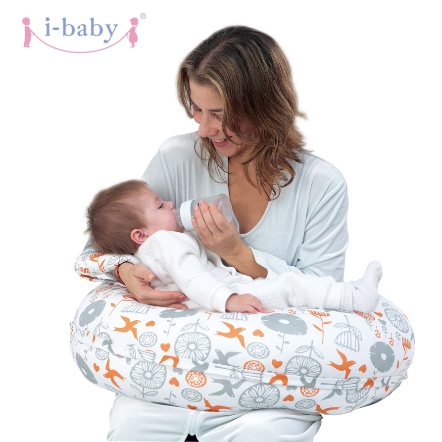i-baby Nursing Pillow Full Body Pregnancy Pillow Breast Feeding Pillow Pregnant Side Sleeper Maternity Support Cushion