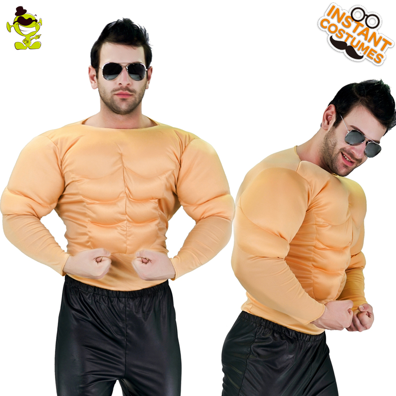 New Arrival Muscle Top  Men Muscle Top Costumes For Adult Anime Cosplay Halloween Funny Strong Man Role Play Party Costumes