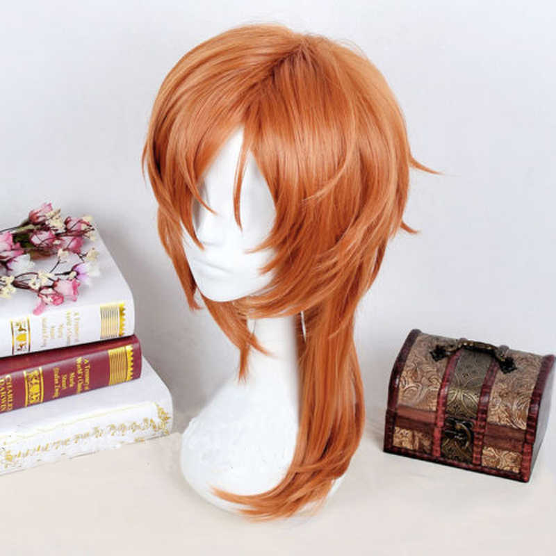 Anime Bungo Anjing Liar Chuya Nakahara Chuuya Wig Sintetis Tahan Panas Rambut Halloween Pesta Kostum Cosplay Wig
