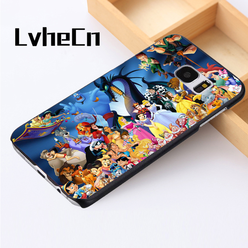 LvheCn phone case cover For Samsung Galaxy S3 S4 S5 mini S6 S7 S8 edge plus Note2 3 4 5 7 8 Characters Jungle Book Aladin