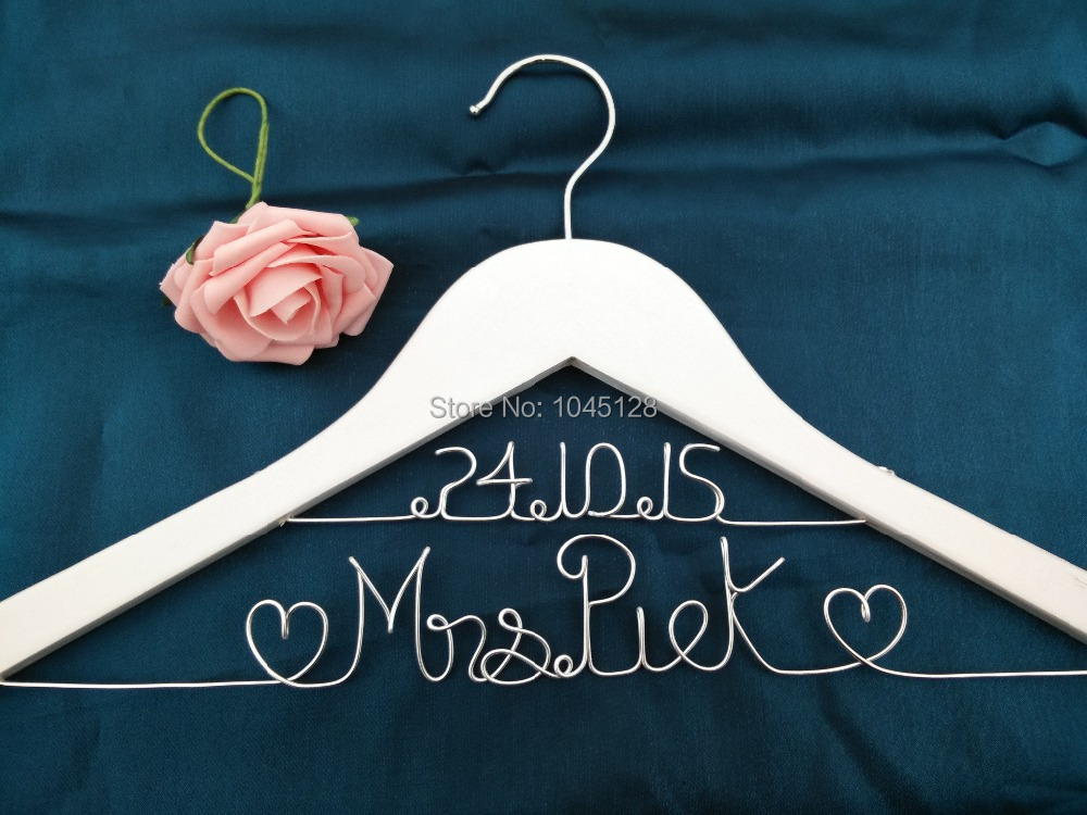 Sale Personalized Wedding Hanger with Date or without Double Line Custom Bridal Hanger Bridesmaid Hanger  Wire Name Sale Personalized Wedding Hanger with Date or without Double Line Custom Bridal Hanger Bridesmaid Hanger  Wire Name