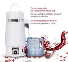 4L المنزلية Moonshine المياه جهاز تقطير الكحول آلة تصفية المياه الفولاذ المقاوم للصدأ التقطير تنقية المرجل زجاجة تخمير