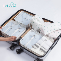 7pcs Set Household Portable Box Waterproof Clothes Organizer Storage Box Underwear Bra Packing Makeup Cosmetic Cloth
