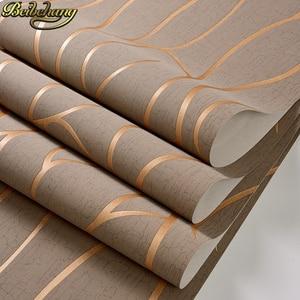 Image 1 - Beibehang papelデparede 3dフローリングストライプ曲線の壁紙 3 dためのリビングルームのベッドルームの壁紙現代