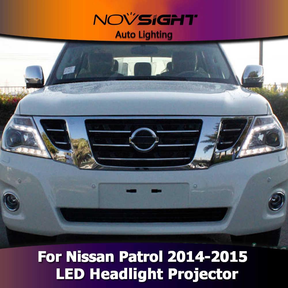 NOVSIGHT 2 шт. фары автомобиля проектор фары DRL Противотуманные фары для Nissan Patrol 2014-2015