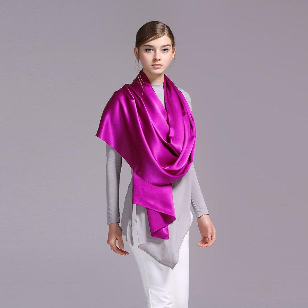 ④100% seda De satén bufanda larga 55x180 cm pura seda de mora de ...