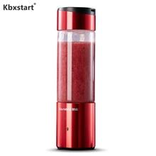 Kbxstart 350ml Portable Electric Multifunction Juicer Cup Smart Wireless USB Recharging 6 Blades Mixer Fruit Blender Machine цена и фото
