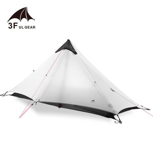 Image 2 - 3F UL GEAR Lanshan 1 Tent Oudoor 1 Person Ultralight Camping Tent 3 Season Professional 15D Silnylon Rodless Tent