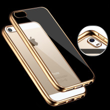Hot Sale For iPhone 5/5S/SE Case Luxury style Plating Gilded TPU Phone Cover silicone soft Back Capa Bag Accessories housing