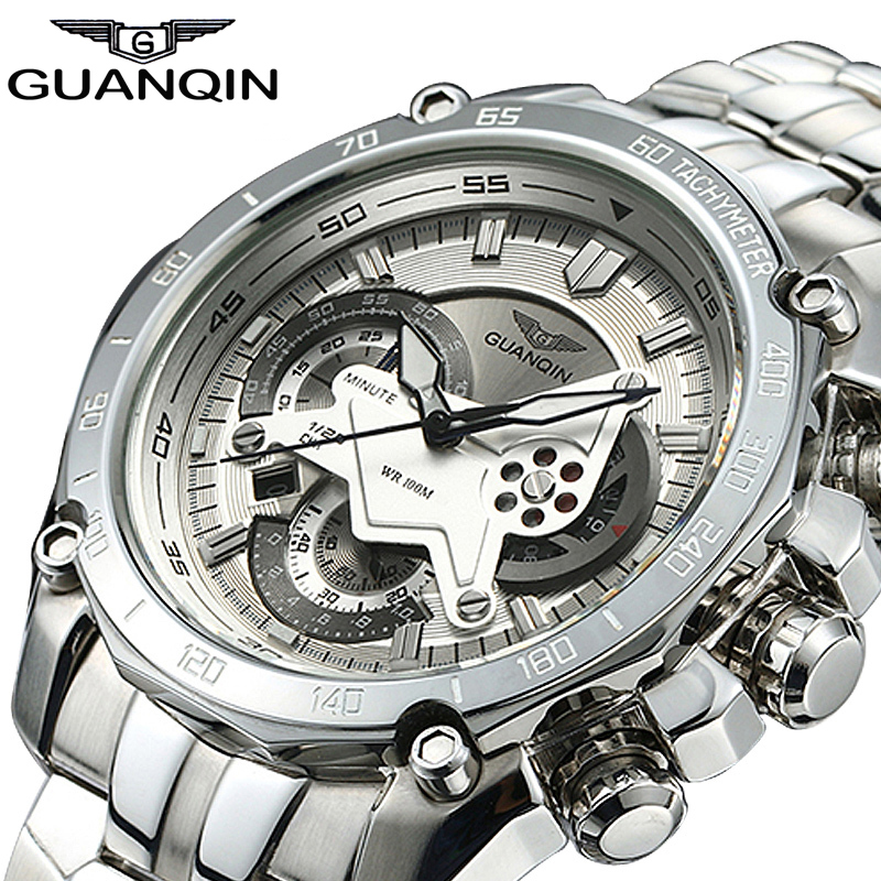 Original GUANQIN Men Quartz Watches Luminous Luxury Brand Multifunctional Chronograph Wristwatch Relogio Masculino Reloj Hombre