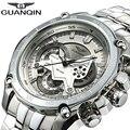 Original GUANQIN Men Quartz Watches Luminous Luxury Brand Multifunctional Chronograph Wristwatch Relogio Masculino Reloj Hombre