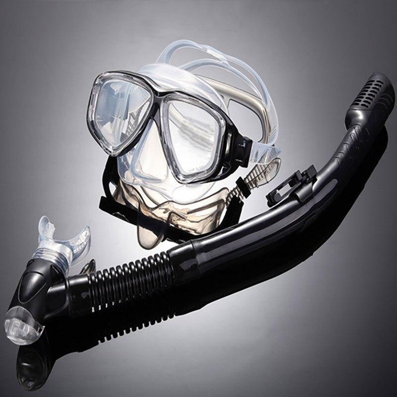 2017 Anti-Brouillard Plongée Snorkeling Plein Masque Lunettes Plongée sous-marine Masque Tuba Lunettes Ensemble De Natation En Silicone De Pêche Piscine Équipement