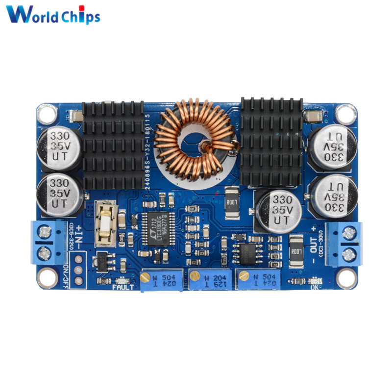 LTC3780 DC-DC 5V-32V to 1V-30V 10A Automatic Step Up Down Regulator Charging Module Power Supply Module Smart Electronics LTC3780 DC-DC 5V-32V to 1V-30V 10A Automatic Step Up Down Regulator Charging Module Power Supply Module Smart Electronics