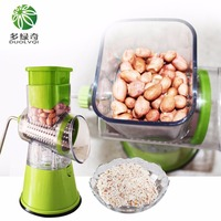 Multi function Vegetables Grinder Fruit Cutter Drum Type Manual High Speed Mandoline Slicer Shredders Stainless Steel Blades
