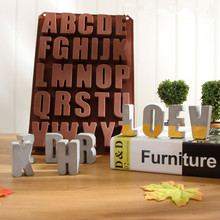 Silicone Concrete Alphabet Mold Cement Letters Ornaments Decoration