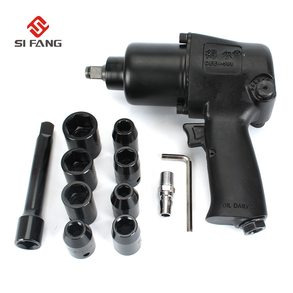 1/2 Twin Hammer Air Impact Wrench Set w/Sockets Max Torque 660N.m Pneumatic Sleeve Pneumatic Tools Super Quality swarovski octea nova 5295326