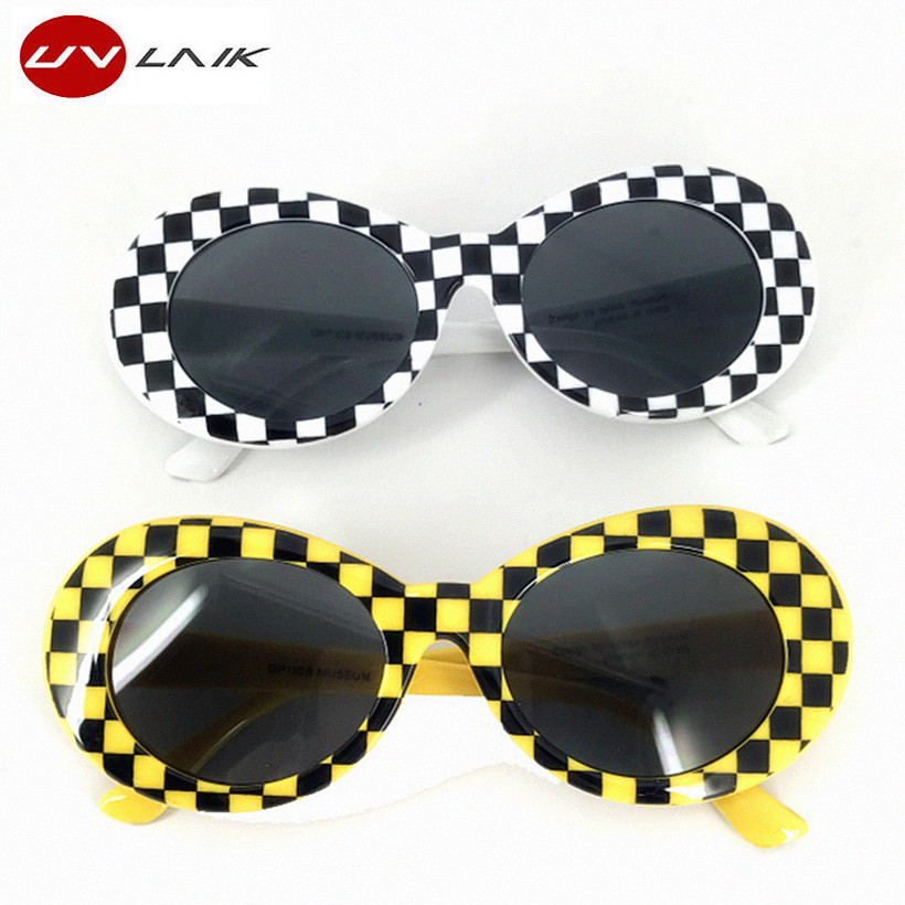 e4ddae8fe9 UVLAIK NIRVANA Kurt Cobain Clout Goggles Round Sunglasses Women Men  Mirrored Glasses Retro Sun Glasses UV400 Eyewear