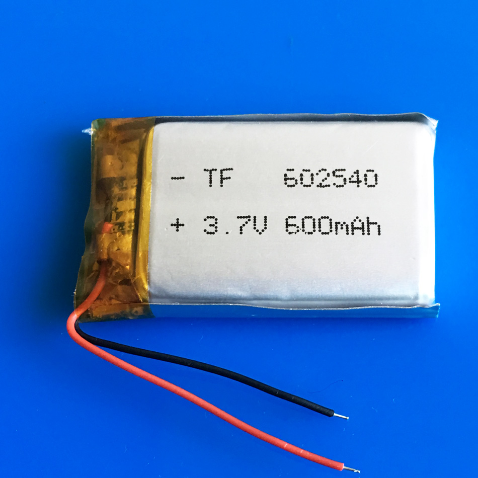 3.7V 600mAh <font><b>602540</b></font> li polymer lithium rechargeable li ion <font><b>battery</b></font> for MP3 MP4 GPS DVD bluetooth recorder headset e-book camera image