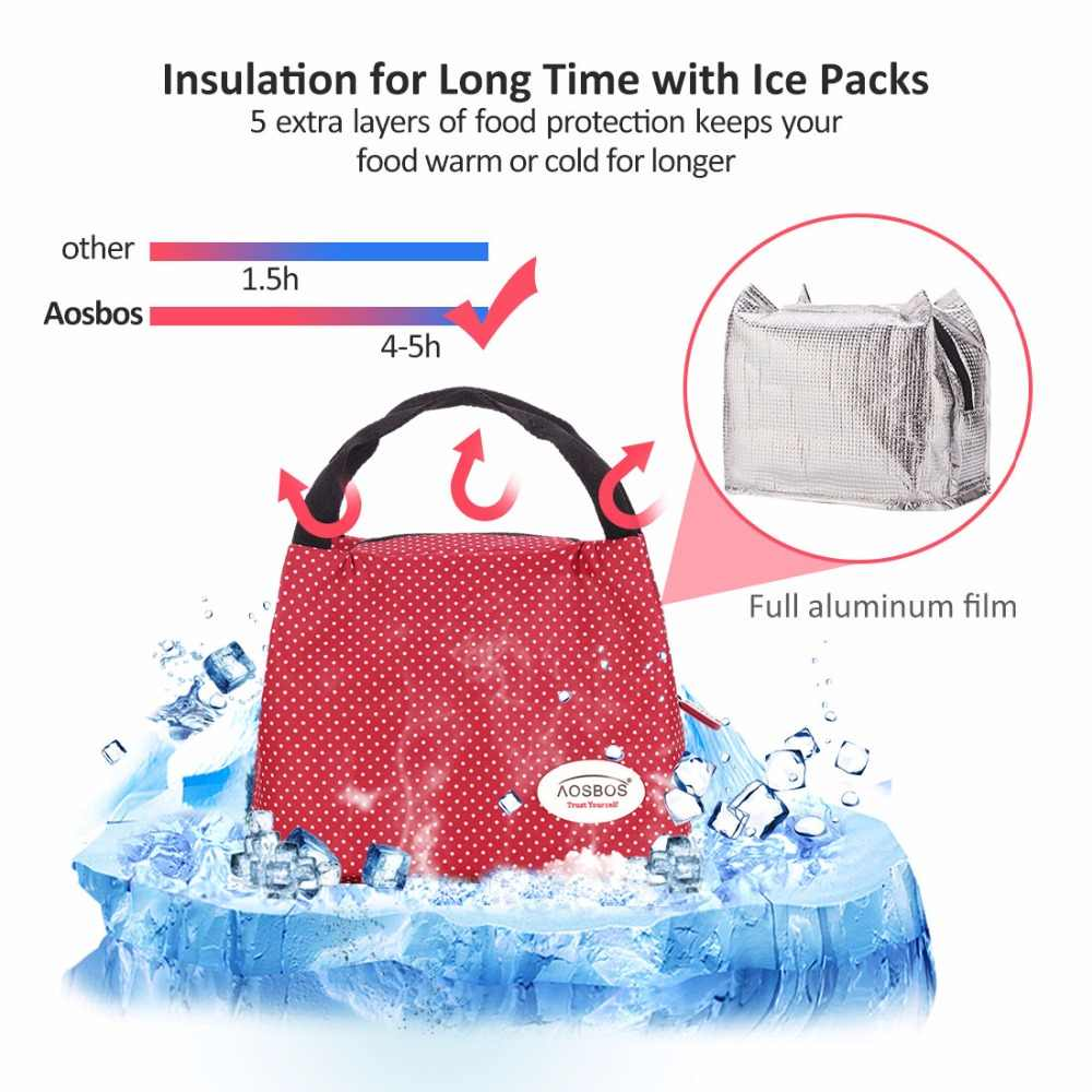 ff8c943f9772 ... AOSBOS Reusable Insulated Thermal Lunch Bag Women Men Multifunctional  6L Cooler And Warm Keeping Lunch Box