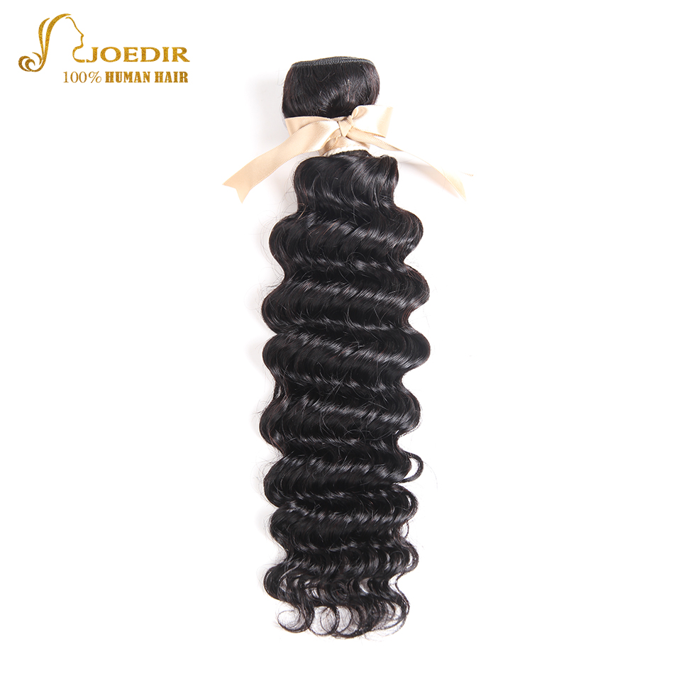 Joedir Hair Human Hair Bundles With Closure Brazilian Deep Weave 14 To 26 Inch 2 Bundles With 360 Lace Frontal Hair Extension