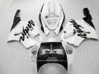 Personalizar libre Del kit Del Carenado Para Kawasaki ninja ZX7R 1996 1999 1998 2003 (blanco) 96 03 Carenados a13