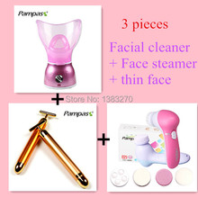 3 piece/lot! 5 in 1 Facial cleaner deep wash electric face steamer handheld thin face skin facial care machine