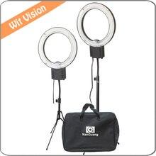 2 pcs 5400 K 28 W Lâmpada Anel de Luz Fluorescente com Bolsa de Transporte e Suporte de Iluminação