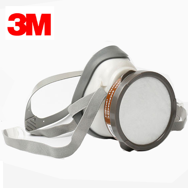 3M 1201 Half-face Painting Mask 4 in 1 set 3001 Gas Cartridges Spraying Mask Single Pot Double Filters G1201 skull style half face mask old silvery
