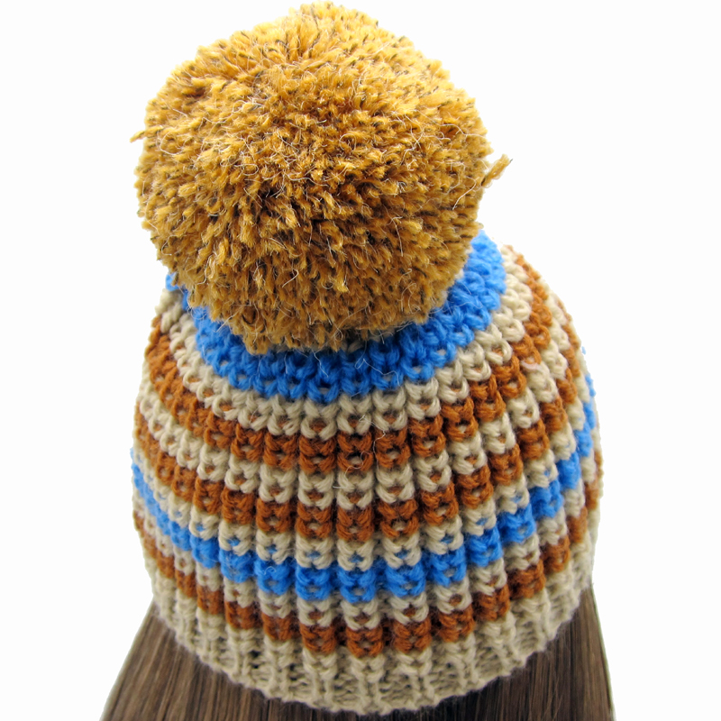 Two-color Woolen Doll Hats With Big Ball For 18 American Girl Doll Clothes And Accessories Handmade Woll Warm Hats AGW18