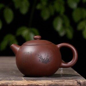 Image 2 - Purple clay plum LAN bamboo Chrysanthemum Shih Kettle handmade pot Yixing teapot pure hand handmade