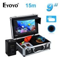 Eyoyo Professional Fish Finder 8GB 15M Detecting Range 9 LCD 1000TVL Underwater Fishing Camera IR DVR
