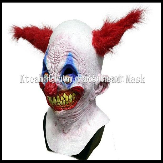 Бесплатная доставка, вечерние костюмы на Хэллоуин, карнавальные, страшные маски клоуна, забавная маска с головой Джокера, маска зомби с полной головкой, карнавальные маски - 2