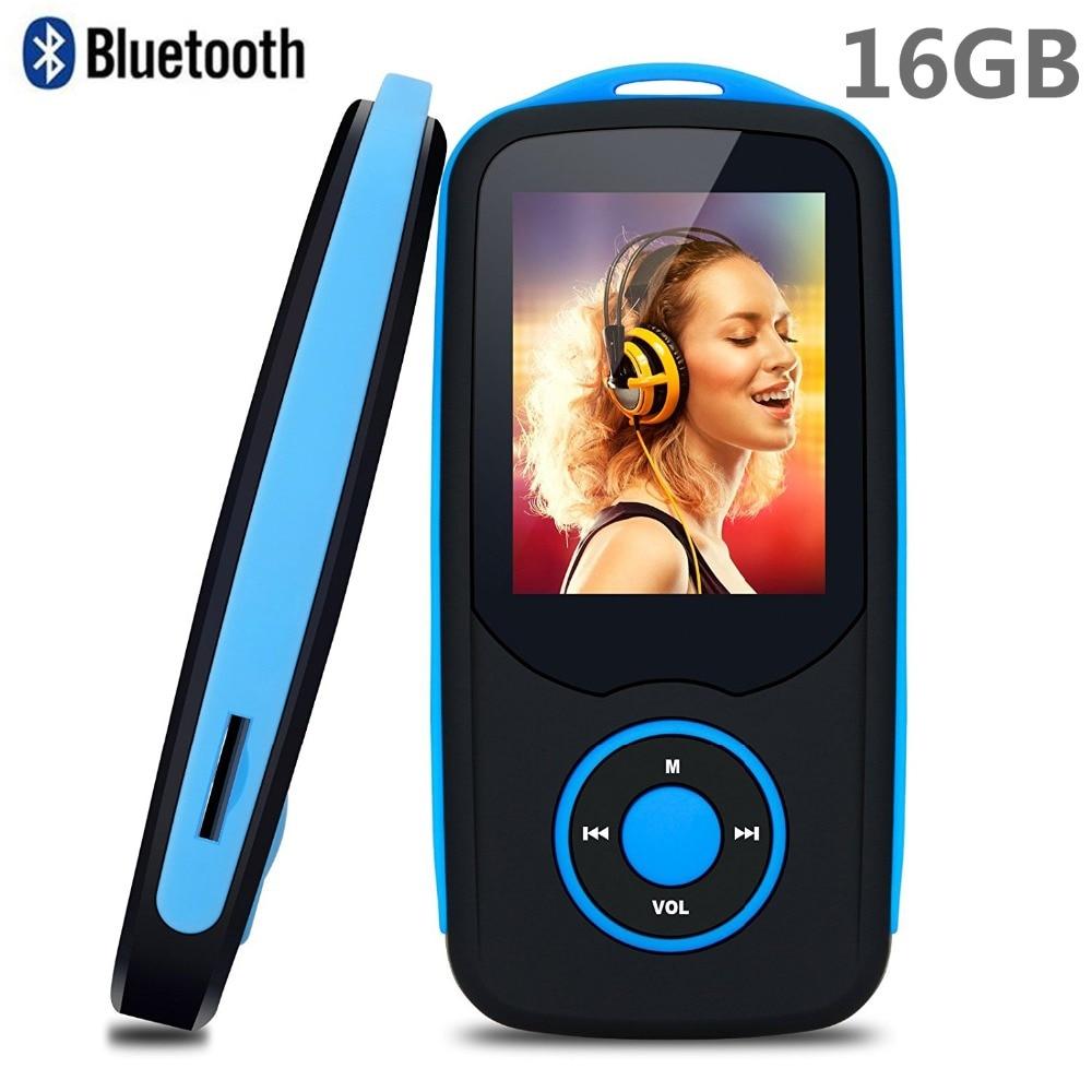 2018 New Original RUIZU X06 16GB Bluetooth4.0 MP3 Music Player 1.8 Inch Color Menu Screen Lossless Walkman with FM Radio, Record