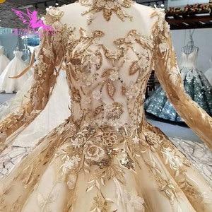 Image 2 - AIJINGYU Witte Trouwjurk Royal Gown Mouwen Met Mouwen Bestemming Oekraïne Russische Bloemen Jassen Bruiloft Lange Mouw