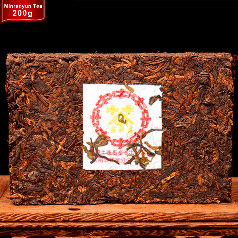 Made in2008 ripe ancient tree pu er brick Chinese yunnan oldest puer tea puerh pu'er Prevent arteriosclerosis Natural Green food