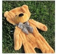 160cm 180cm 200cm Semi Finished Products Teddy Bear Skin Plush Bear Skin Plush Toys 5 Colors