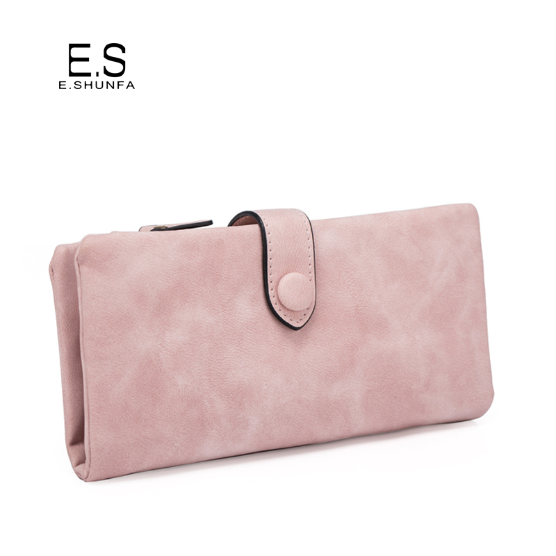 Scrub Womens Wallets And Purses 2018 New Fashion Casual Long Wallet Women PU Leather Solid Hasp Coin Clutch Purse High Quality stock promotion genuine leather wallet female purse long coin purses holder ladies wallet hasp fashion womens wallets and purses