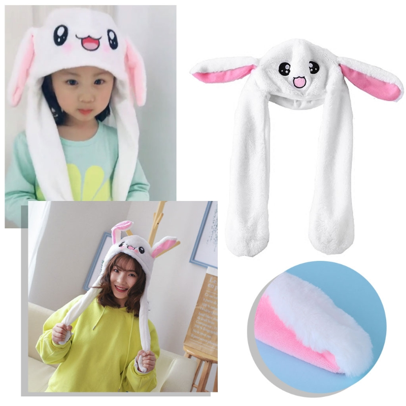 Hot Novelty Magic Rabbit Hat With Moving Ear Plush Toy Gift Kids Velvet Toy Party Gifts For Children