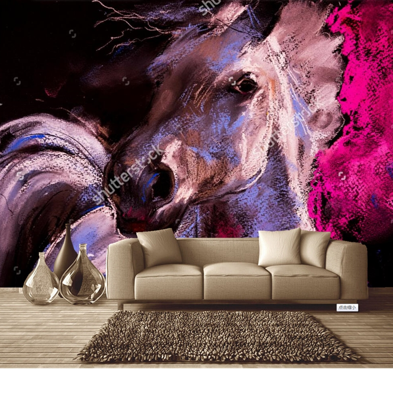 Custom retro wallpaper,Painting horse,photo mural for the living room bedroom restaurant background wall waterproof wallpaper  free shipping ancient retro restaurant background painting living room lobby mural high quality bathroom restaurant wallpaper