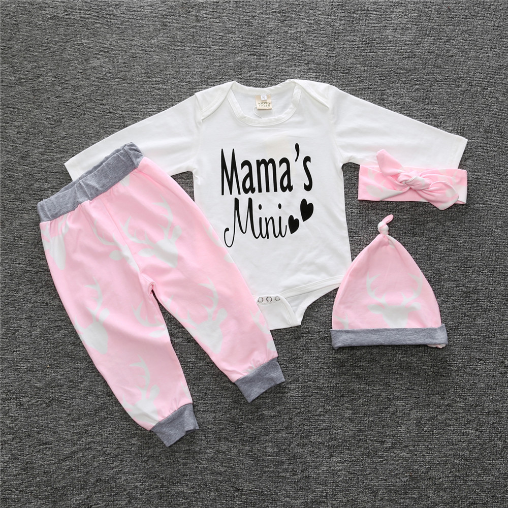 00d62cfab2aa 2018 New baby girl clothing set Christmas style baby suit long sleeved  romper + pants + hat 3pcs newborn baby clothes SY163-in Clothing Sets from  Mother ...