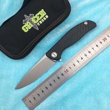 лучшая цена Green thorn HATI 95 Flipper folding knife M390 steel bearing titanium CF 3D handle camping hunting outdoor fruit Knives EDC tool